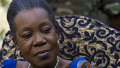 Catherine Samba-Panza, la nouvelle présidente centrafricaine de transition, ici le 21 janvier à Bangui (REUTERS/Siegfried Modola)